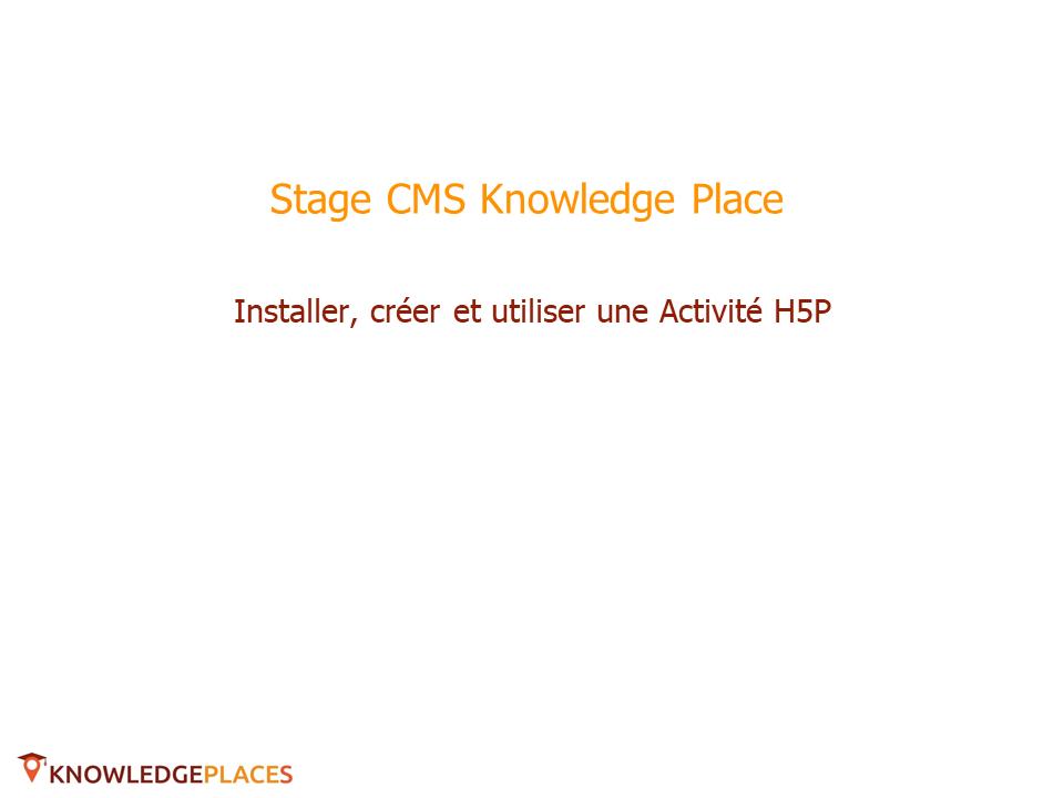 Installer et ajouter une activité H5P (1)