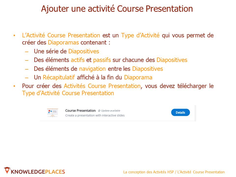 L'Activité Course Presentation (2)