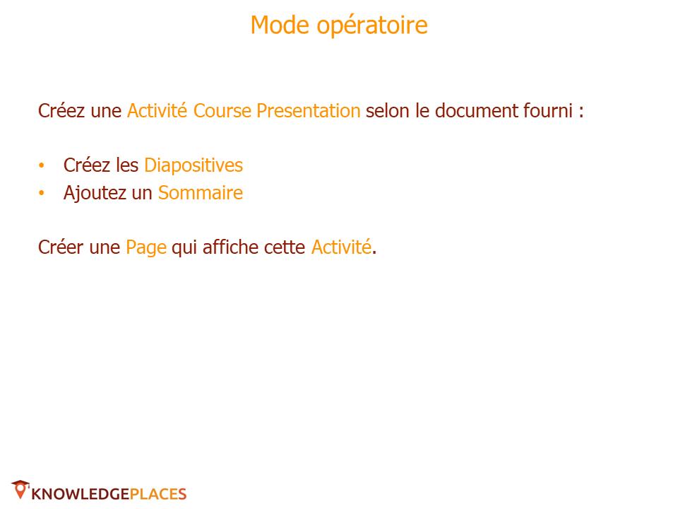 L'Activité Course Presentation - exercice (2)