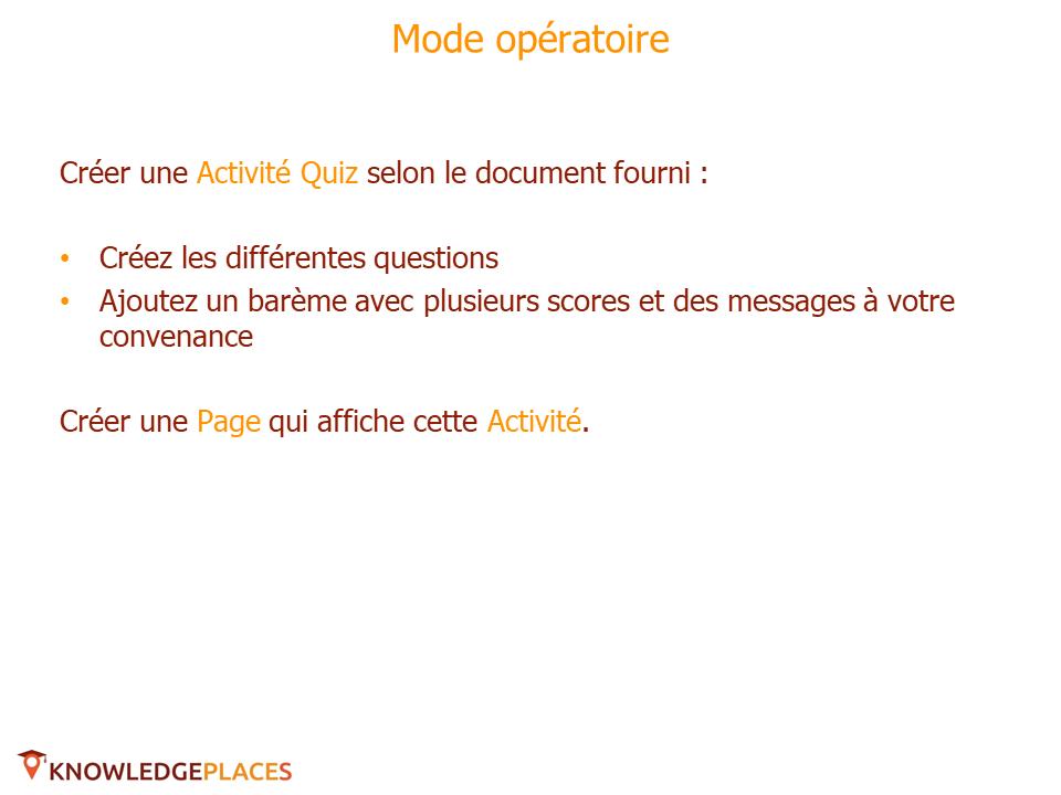 L'Activité Quiz - exercice (2)