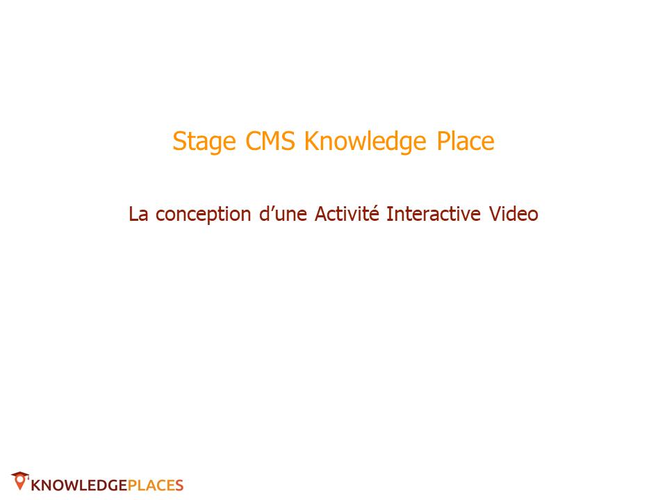 L'Activité Vidéo Interactive (1)