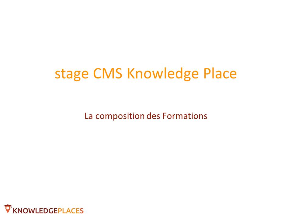 La composition des formations (1)