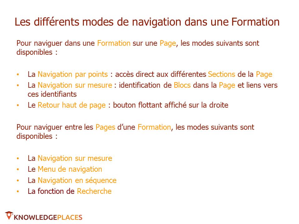 La navigation dans les formations (2)