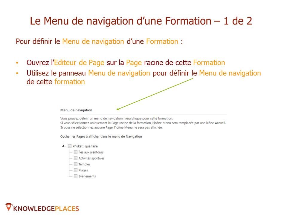 La navigation dans les formations (4)