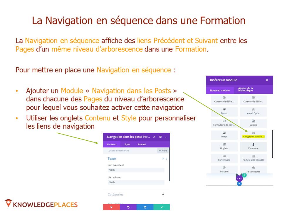 La navigation dans les formations (6)