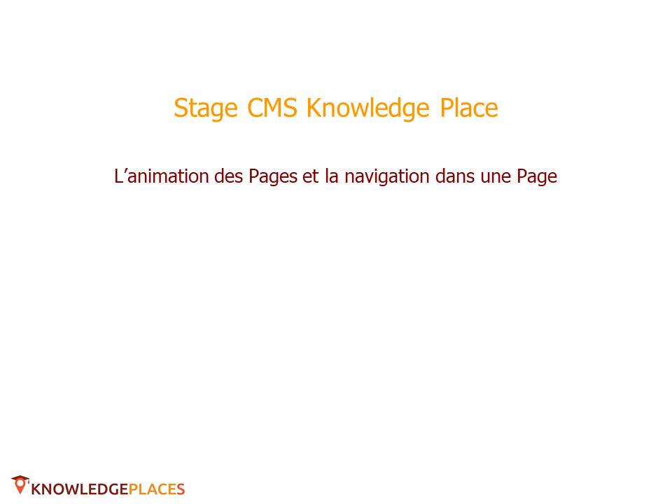 L'animation des blocs et la navigation entre les blocs (1)
