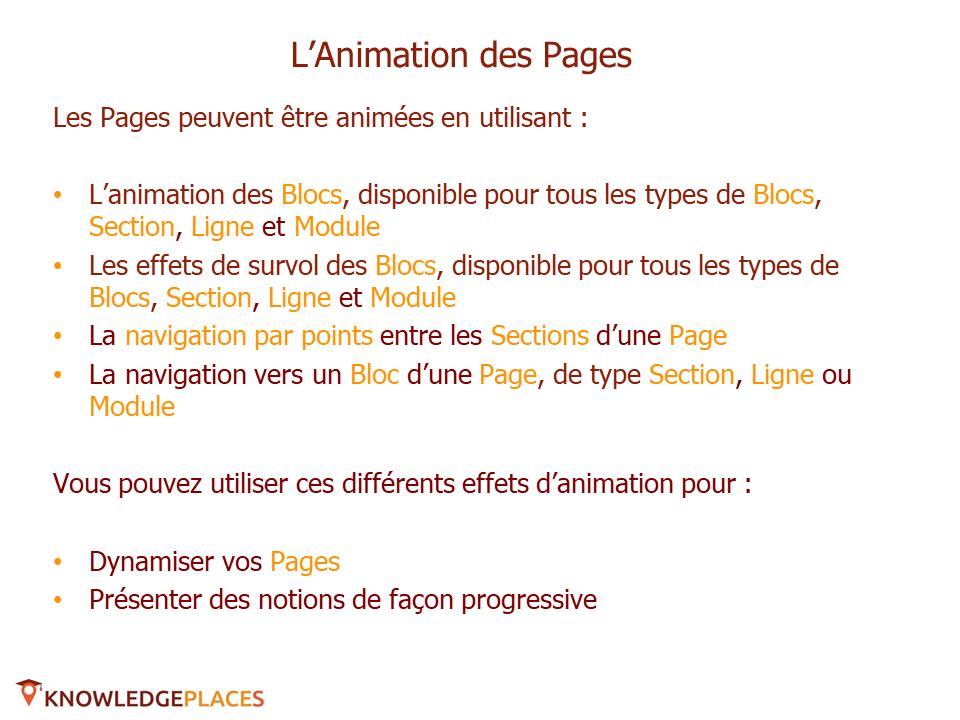 L'animation des blocs et la navigation entre les blocs (2)