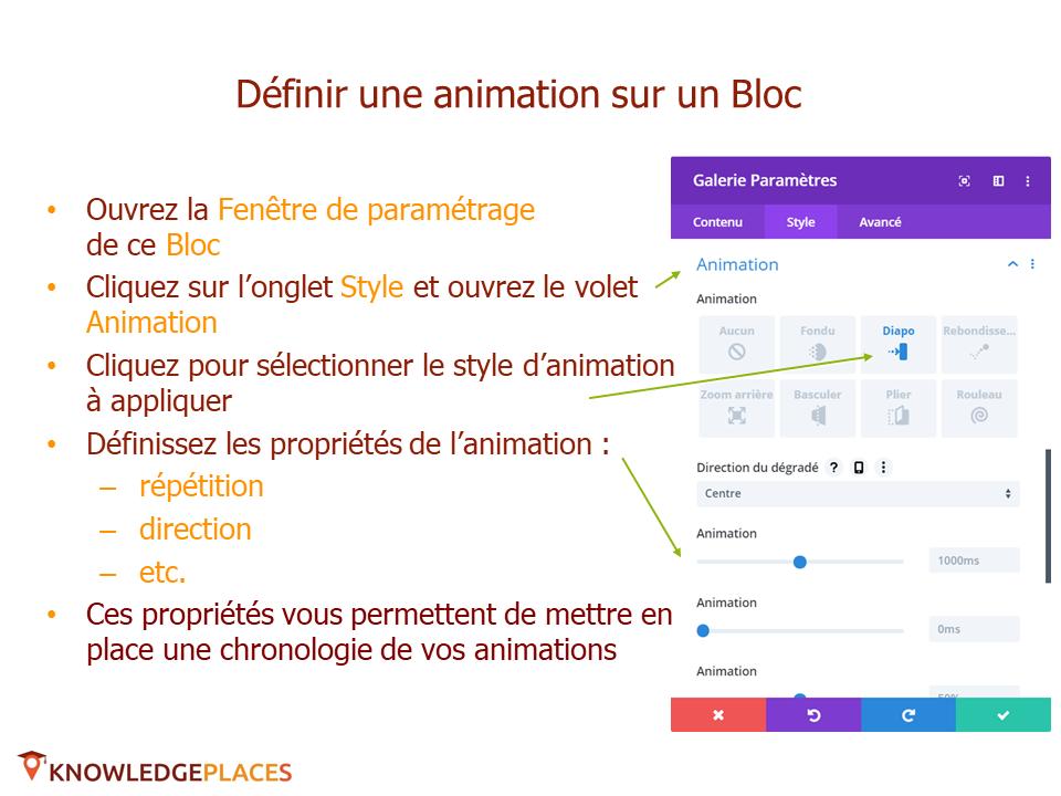 L'animation des blocs et la navigation entre les blocs (3)
