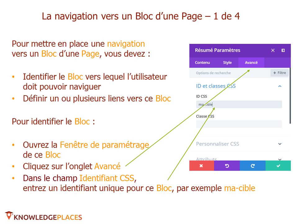 L'animation des blocs et la navigation entre les blocs (8)