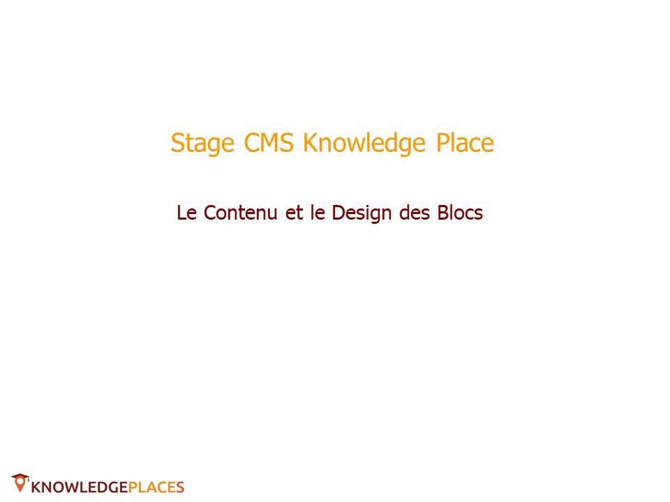 Le contenu et le design des blocs (1)