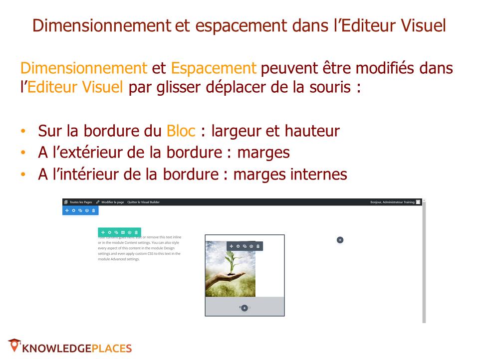 Le contenu et le design des blocs (10)