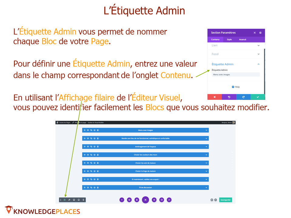 Le contenu et le design des blocs (7)