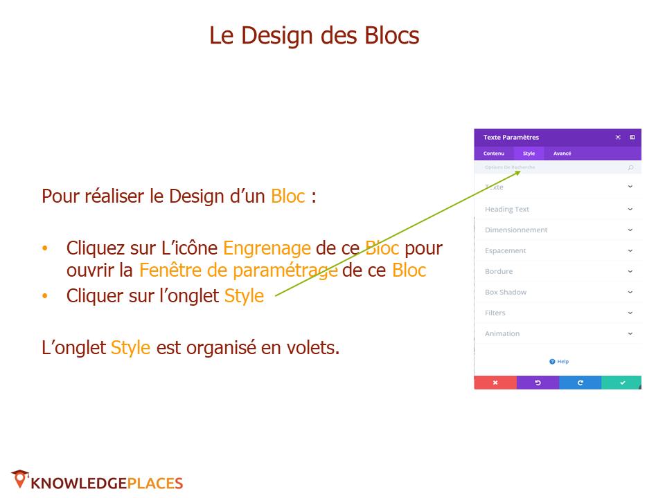 Le contenu et le design des blocs (8)