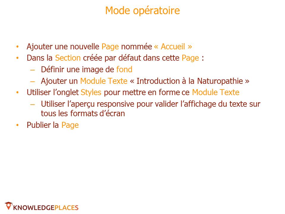 Le contenu et le design des blocs - exercice(2)
