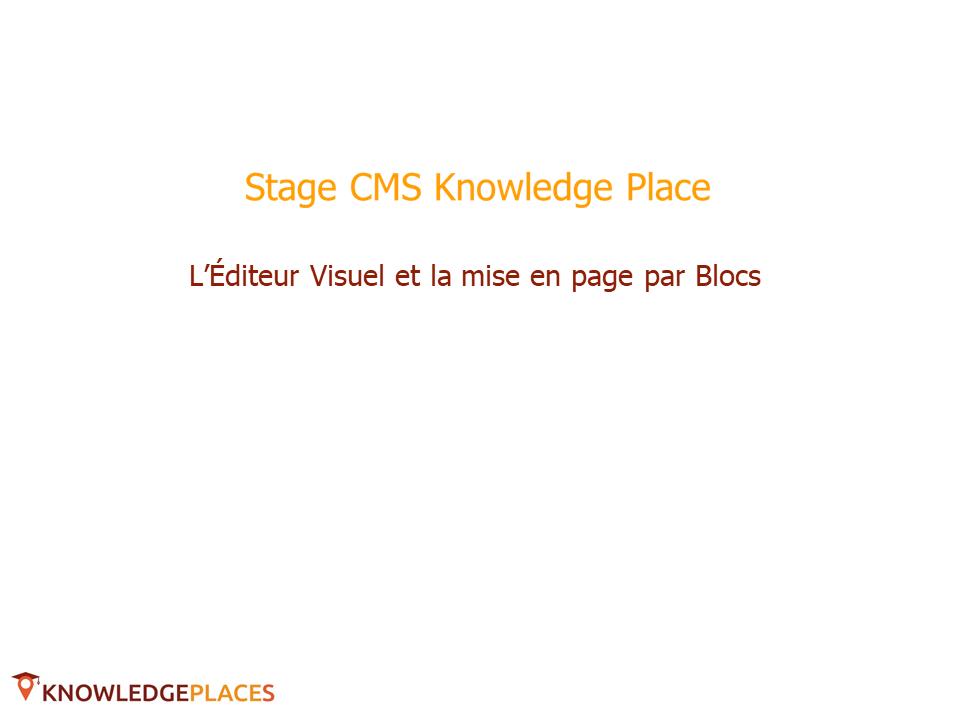 L'éditeur visuel et la mise en page par blocs (1)