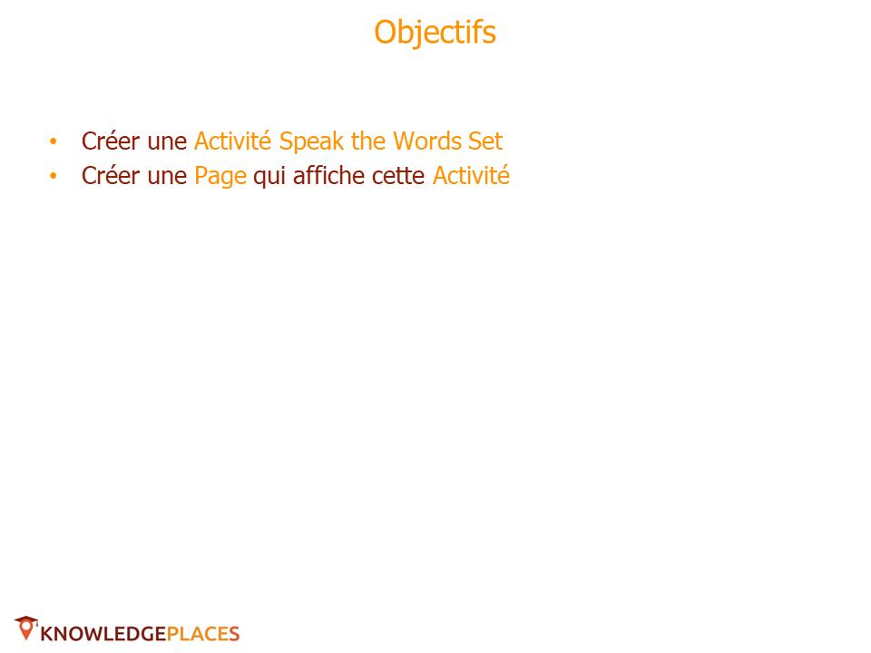 Les Activités avec prise en charge de l'audio - exercice (1)