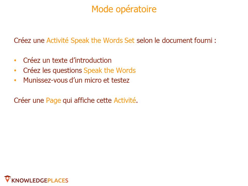Les Activités avec prise en charge de l'audio - exercice (2)
