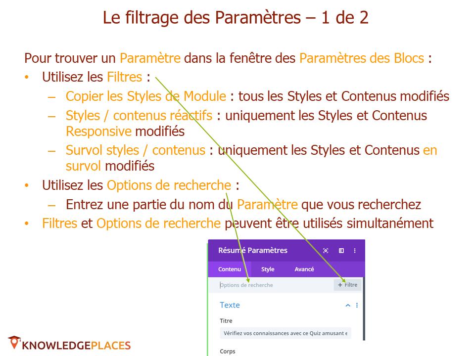 Les outils de productivité de l'éditeur visuel (10)