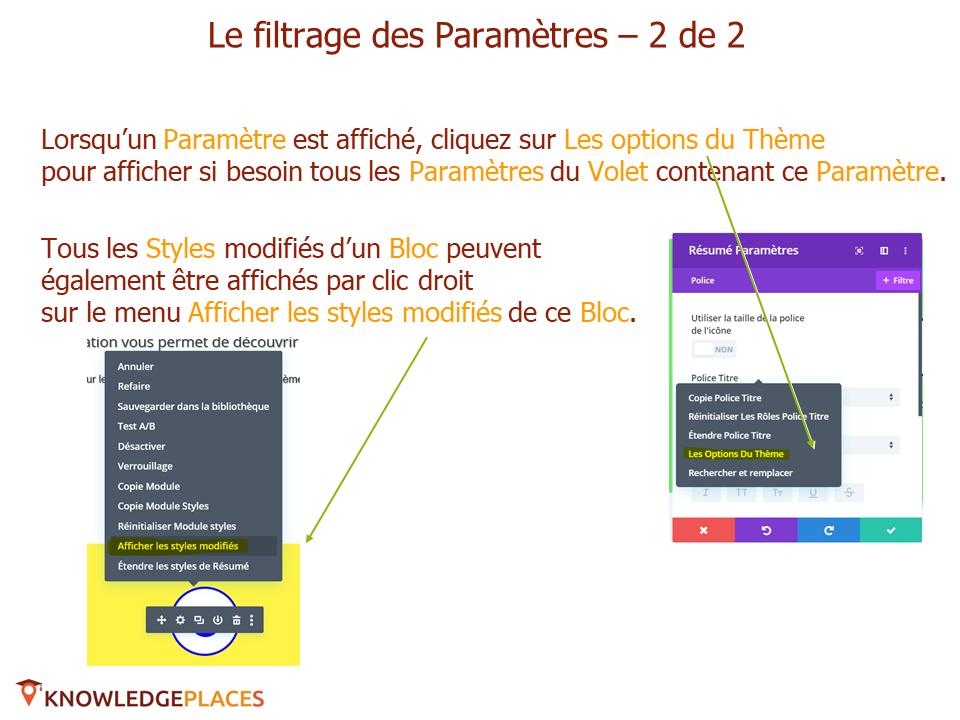 Les outils de productivité de l'éditeur visuel (11)
