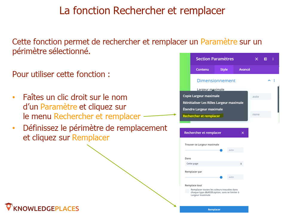 Les outils de productivité de l'éditeur visuel (12)