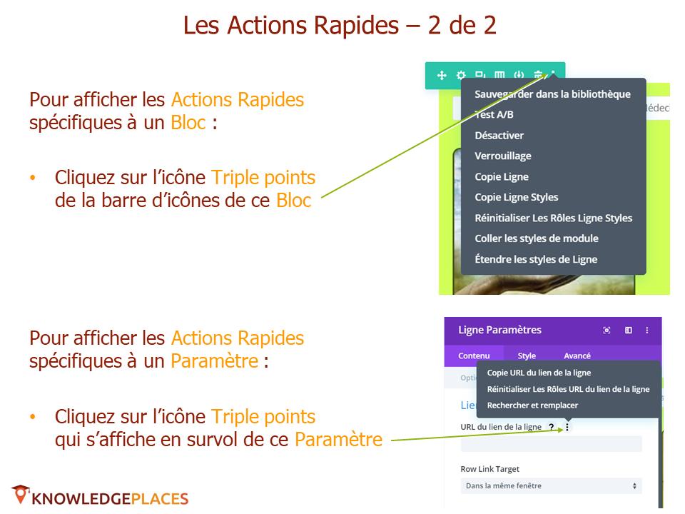 Les outils de productivité de l'éditeur visuel (14)