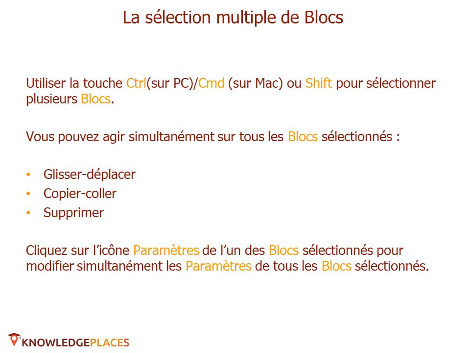 Les outils de productivité de l'éditeur visuel (5)