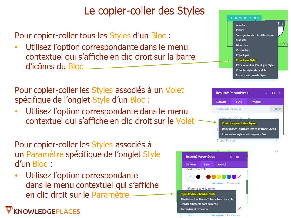 Les outils de productivité de l'éditeur visuel (6)