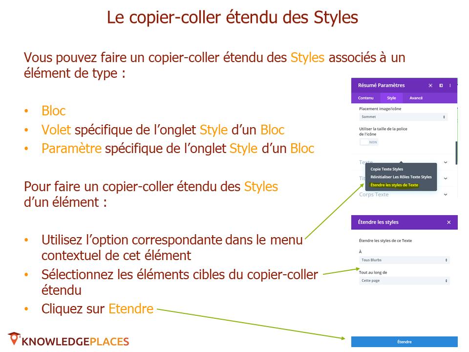 Les outils de productivité de l'éditeur visuel (7)
