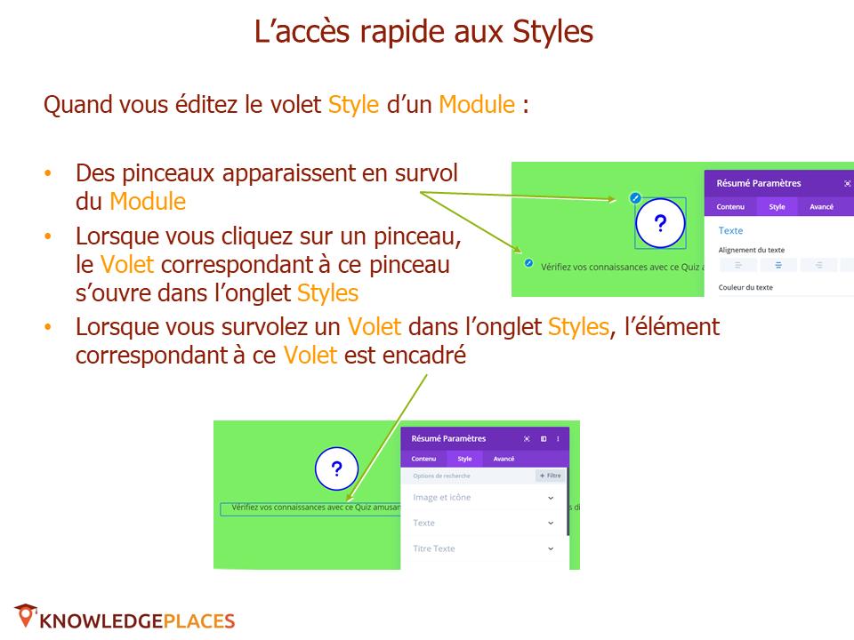 Les outils de productivité de l'éditeur visuel (8)