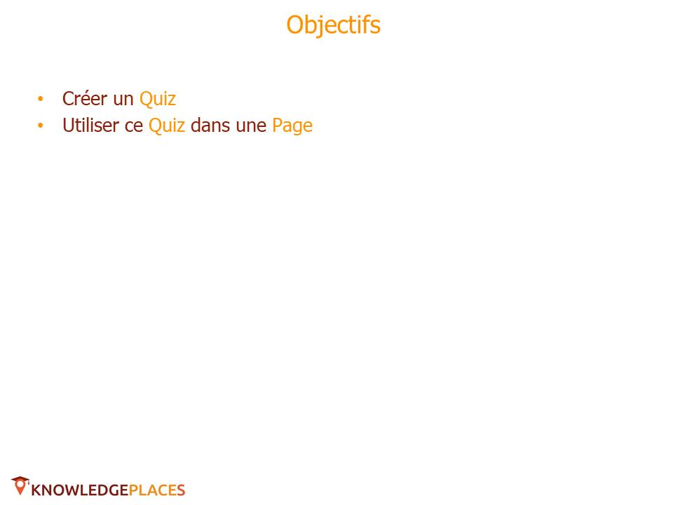 Utilisation de Quiz dans les Pages - exercice (1)