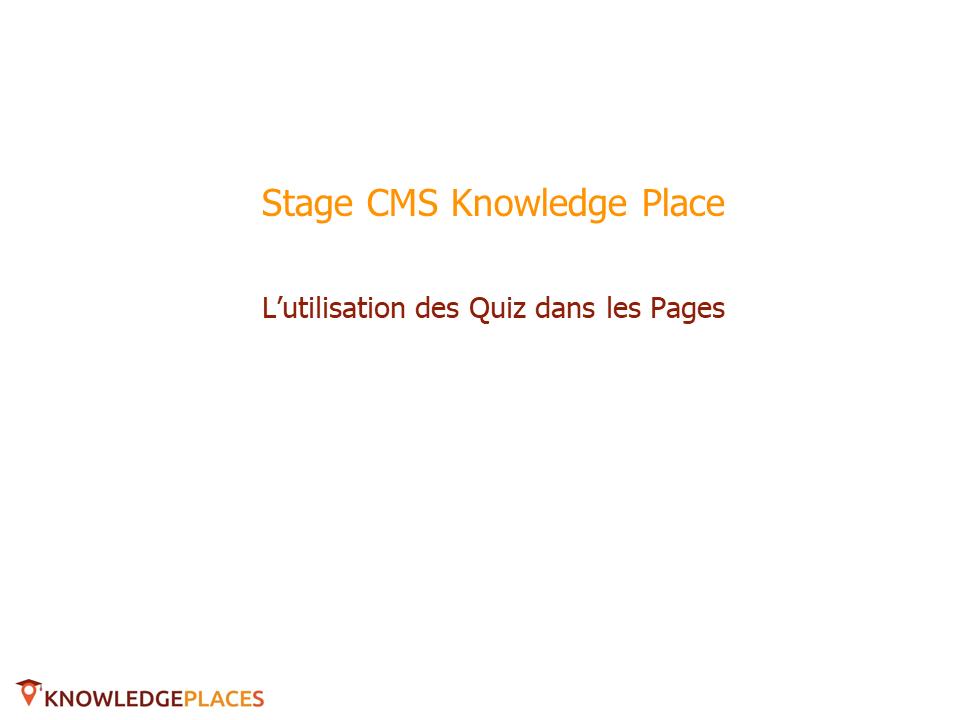 Utilisation des quiz dans les pages (1)