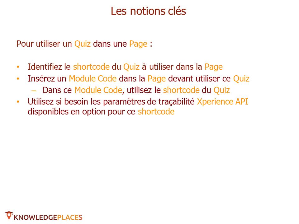 Utilisation des quiz dans les pages (2)