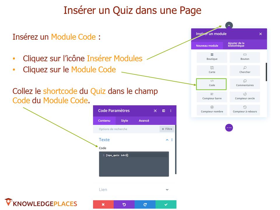 Utilisation des quiz dans les pages (4)